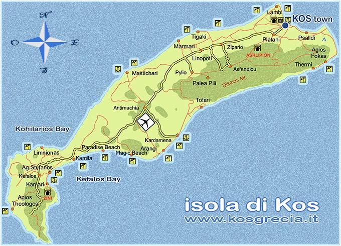Come arrivare a kos come raggiungere kos dallitalia mappa dellisola check1 altavistaventures Image collections